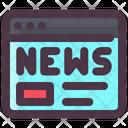 Internet Technology Online News Online News Website Icon