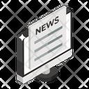 Digital News Internet Newspaper Online News Icon