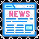 News Web Site Icon