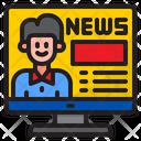 News Man Message Icon