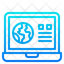 Online News Laptop Earthday Icon
