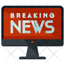 Computer Breaking News Icon
