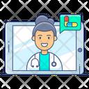 Online Nursing Online Medication Online Healthcare Icon