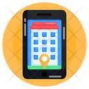 Mobile Location Online Office Location Online Office Icon