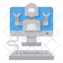 Online Operate Robot Icon