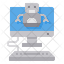 Robot Computer Artificial Intelligence Icon