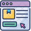 Online Order Shopping Delivery Icon