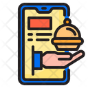 Mobilephone Food Delivery Icon