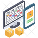 Online Order Booking Icon