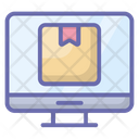 Online Package Online Parcel Online Delivery Icon