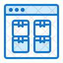 Browser Truck Delivery Icon