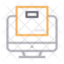 Parcel Online Shipping Icon