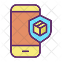 Mobile Application Online Parcel Security Icon