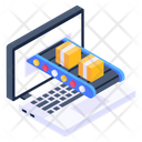 Online Logistics Online Delivery Online Shipping Icon