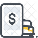Online Payment Taxi Icon