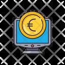 Online Pay Euro Icon