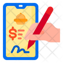 Pay Delivery Mobile Icon