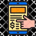 Online Pay Online Payment Online Payment Receipt Icon