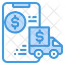 Payment Smartphone Truck Icon