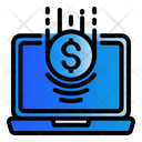 Laptop Money Digital Marketing Icon
