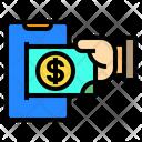 Smartphone Money Online Icon