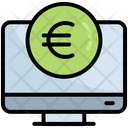 Online Payment Computer Currency Icon