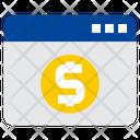 Web Browser Coins Bank Icon