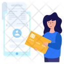 Online Receipt Online Payment Digital Payment Icon
