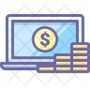Cash Coins Laptop Icon