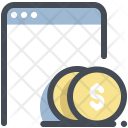 Online Payment Cash Icon