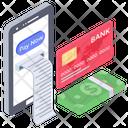 Online Receipt Online Payment Bill Online Invoice Icon
