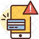 Online Payment Error Card Card Payment Warning Icon