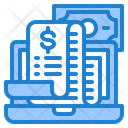 Online Payment Receipt Shopping Bill Shopping Receipt Icon