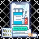 Online Healthcare Online Pharmacy Online Diagnosis Icon