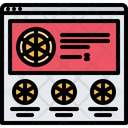 Pizza Website Shop Icon
