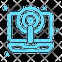 Laptop Podcast Radio Icon