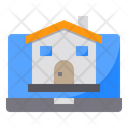 Laptop House Building Icon