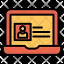 Online Portfolio Cv Icon