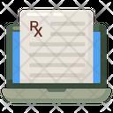 Online Prescription Medical Receipt Online Report Icon