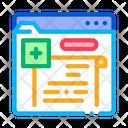 Online Prescription Color Icon