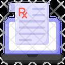 Medical Report Medical Prescription Online Prescription Icon