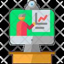 Online Presentation Home Office Online Icon