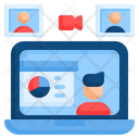 Presentation Online Online Conference Video Conference Icon