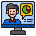 Worker Work From Home Work Icon