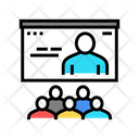 Online Teaching Group Icon