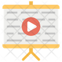 Online Presentation Video Presentation Training Icon