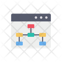 Online Process Flow Flow Chart Page Icon