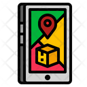 Mobile Tracking Phone Icon