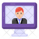 Online User Online Person Video Call Icon