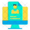 Cv Profile Resume Icon